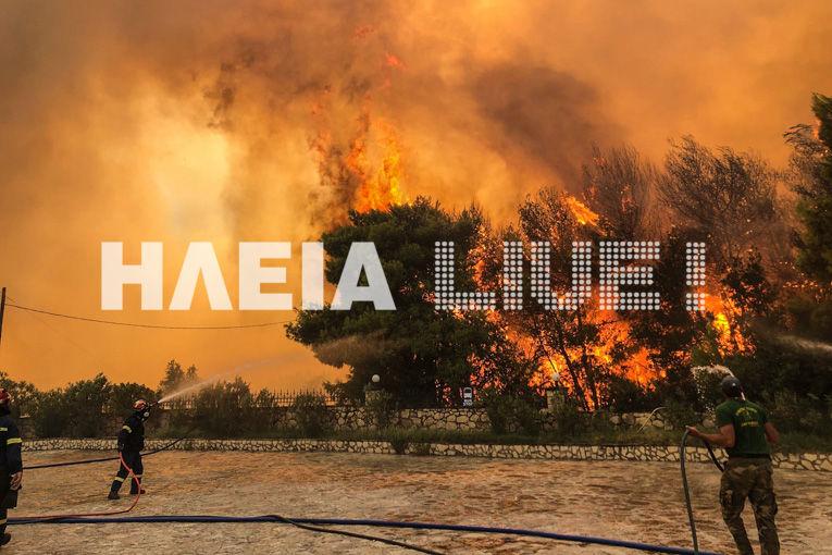 Εκτός ελέγχου μαίνεται πλέον η φωτιά που ξέσπασε κοντά στα χωριά Αγαλάς και Κερί στη Ζάκυνθο -
