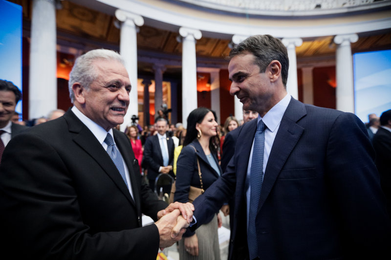 Δημήτρης Αβραμόπουλος και Κυριάκος Μητσοτάκης