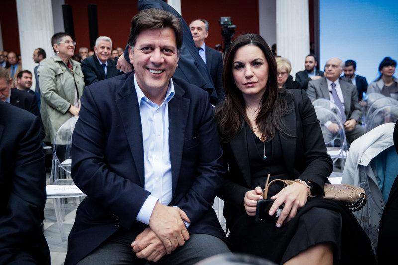 Ο Μιλτιάδης Βαρβιτσιώτης και η Ολγα Κεφαλογιάννη