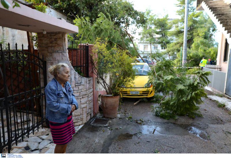 Καταστροφές από την κακοκαιρία στο Νέο Ηράκκλειο