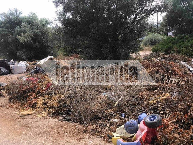 Κλαδιά και μπάζα πεταμένα στους δρόμους στο Ζούμπερι
