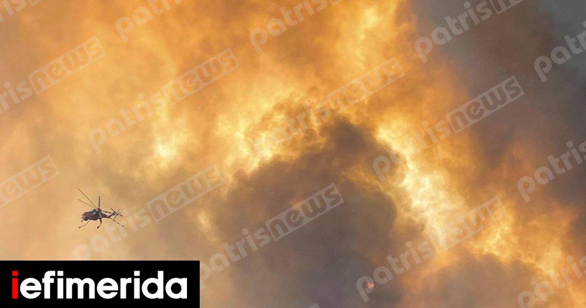 Μαίνεται το πύρινο μέτωπο στην Αρχαία Ολυμπία -Εκκενώθηκαν 5 οικισμοί [εικόνες & βίντεο]   ΕΛΛΑΔΑ