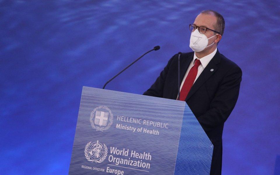 Ο Χανς Κλούγκε στη διάρκεια της ομιλίας του / Φωτογραφία: Intimenews- ΣΤΕΦΑΝΟΥ ΣΤΕΛΙΟΣ