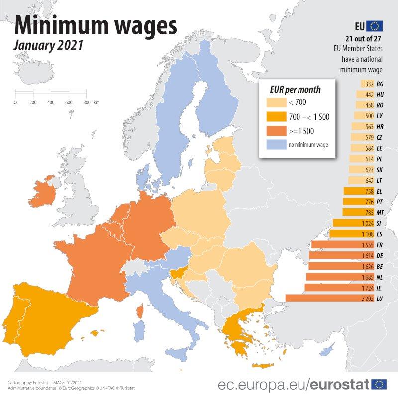 Τα «αγκάθια» για τον νέο κατώτατο μισθό: Στη 2η «κατηγορία» της ΕΕ η Ελλάδα, προς το πού θα κινηθεί   ΟΙΚΟΝΟΜΙΑ   iefimerida.gr
