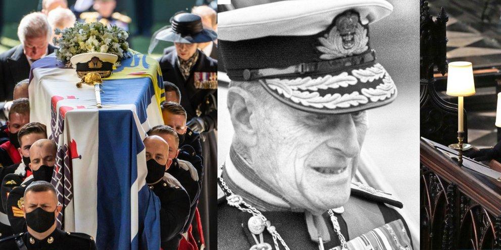 Η βασίλισσα Ελισάβετ αποχαιρέτησε τον Ελληνα πρίγκιπά της, Φίλιππο -Ολα όσα έγιναν στην κηδεία, τα δάκρυα, ο Κάρολος, ο Γουίλιαμ και ο Χάρι [εικόνες]
