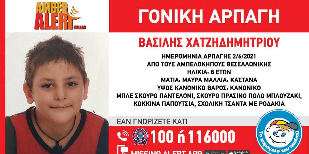 Amber Alert στη Θεσσαλονίκη: Μητέρα άρπαξε τον 8χρονο γιο της μετά το σχολείο και εξαφανίστηκαν   ΕΛΛΑΔΑ   iefimerida.gr