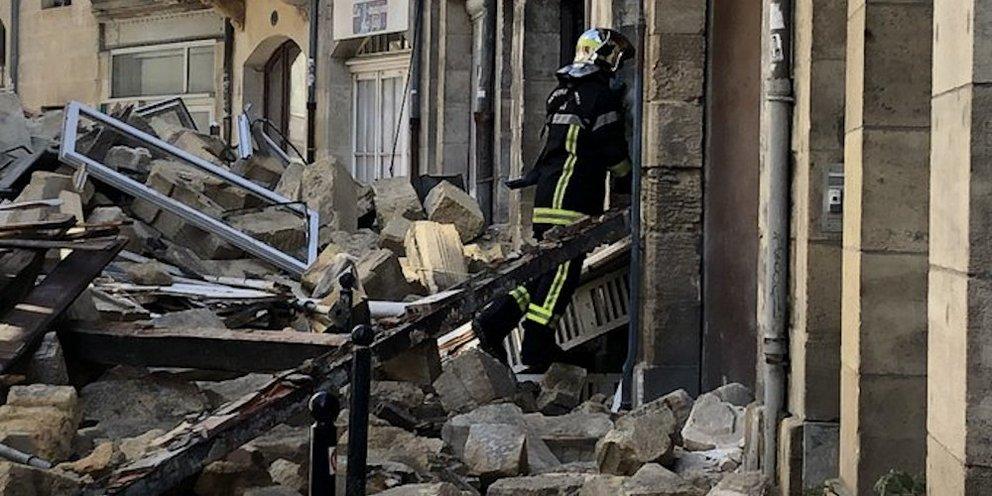 Γαλλία: Τρεις τραυματίες από κατάρρευση δύο κτιρίων στο Μπορντό -Επεσε όλη η πρόσοψη [εικόνα]