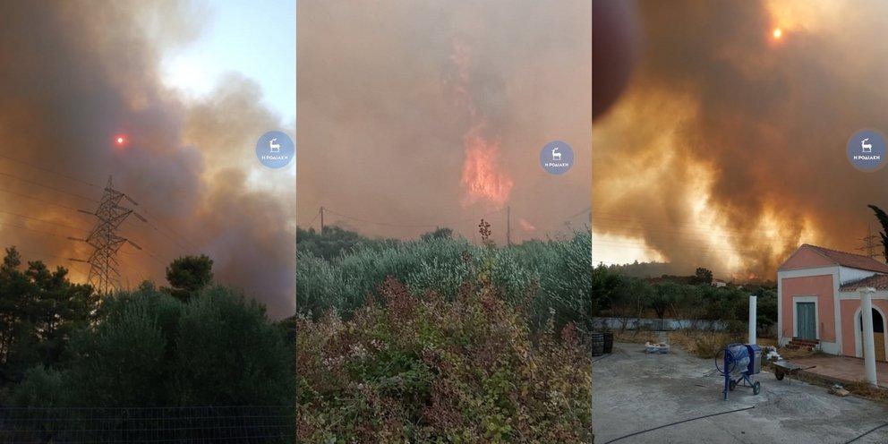 Ανεξέλεγκτη η φωτιά στη Ρόδο: Εκκενώνονται οικισμοί -Μήνυμα του «112», χωρίς ρεύμα μεγάλο μέρος του νησιού | ΕΛΛΑΔΑ