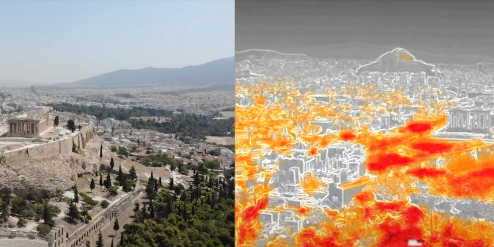 Καύσωνας: «Φλέγεται» η Αθήνα -Ξεπέρασε τους 55 βαθμούς Κελσίου η θερμοκρασία εδάφους [βίντεο]