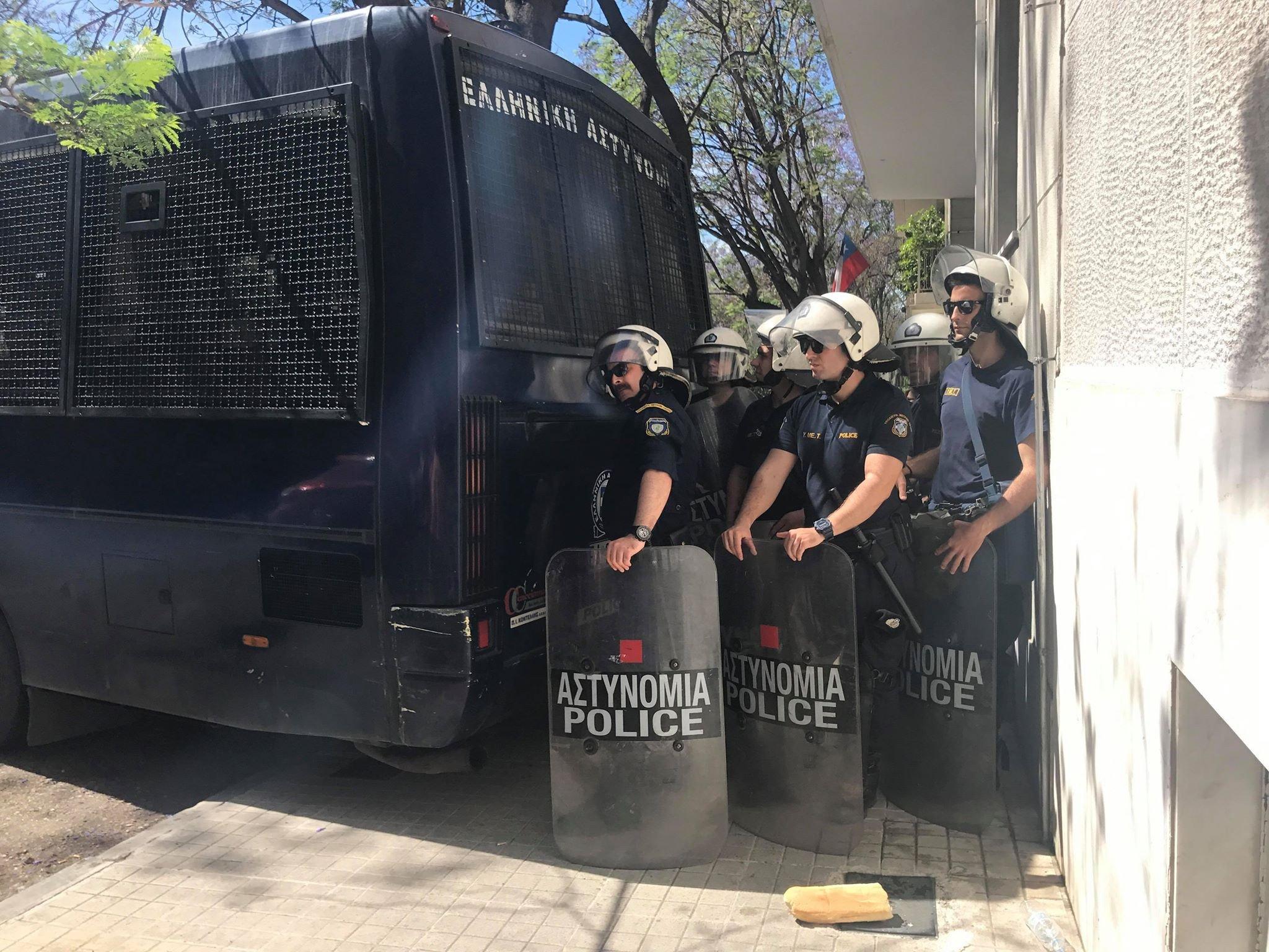 Ισχυρές αστυνομικές δυνάμεις στο σημείο