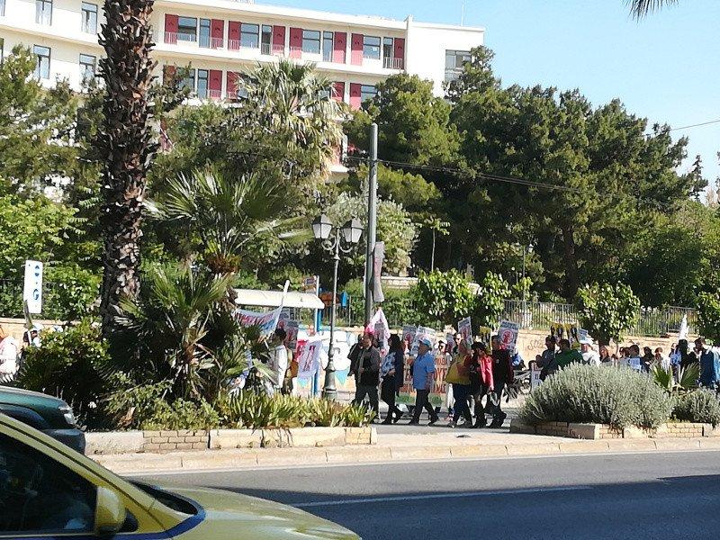 Πορεία των εργαζομένων της ΠΟΕΔΗΝ στο κέντρο της Αθήνας